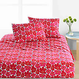 marimekko® Unikko Sheet Set in Red