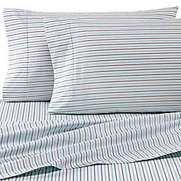 Heartland® HomeGrown™ 325-Thread-Count Cotton Percale Queen Fitted Sheet in Stripe
