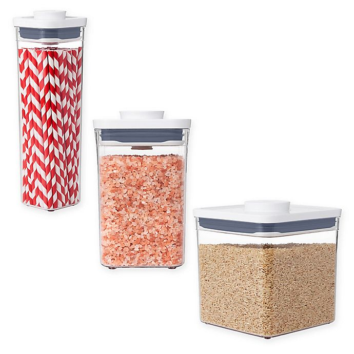Alternate image 1 for OXO Good Grips® Square Food Storage POP Containers in White