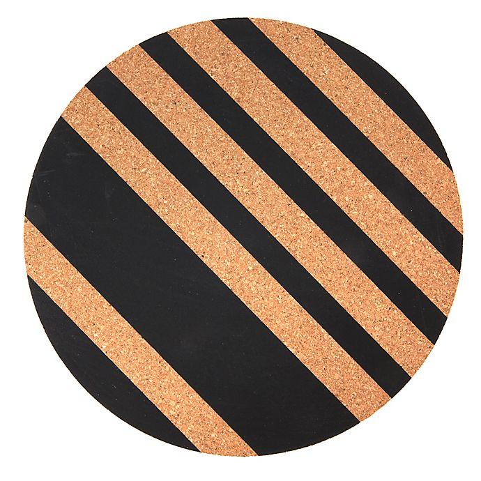 Alternate image 1 for Core Kitchen™ Lines Round Cork Trivet