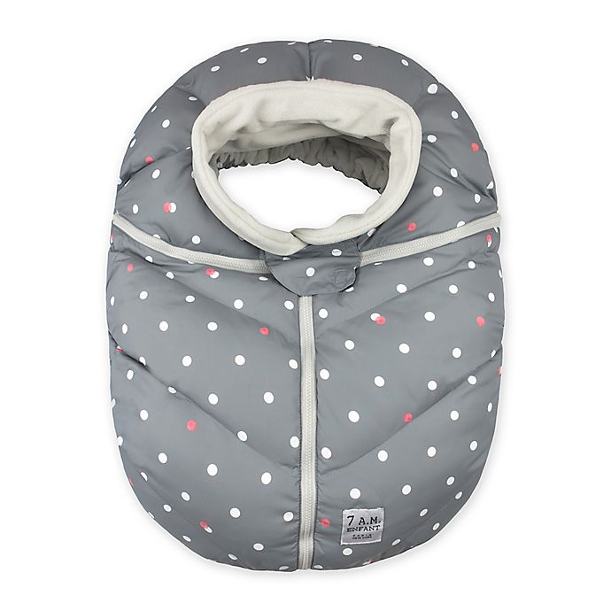 Alternate image 1 for 7 A.M.® Enfant Car Seat Cocoon in Heather Grey Stars