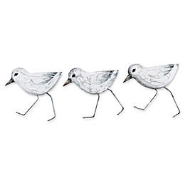 T.I. Design Sand Pipers 17-Inch x 12-Inch Metal Wall Art (Set of 3)