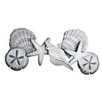 T.I. Design Sculpted Sea Shell 17-Inch x 35-Inch Wooden Wall Art in Grey