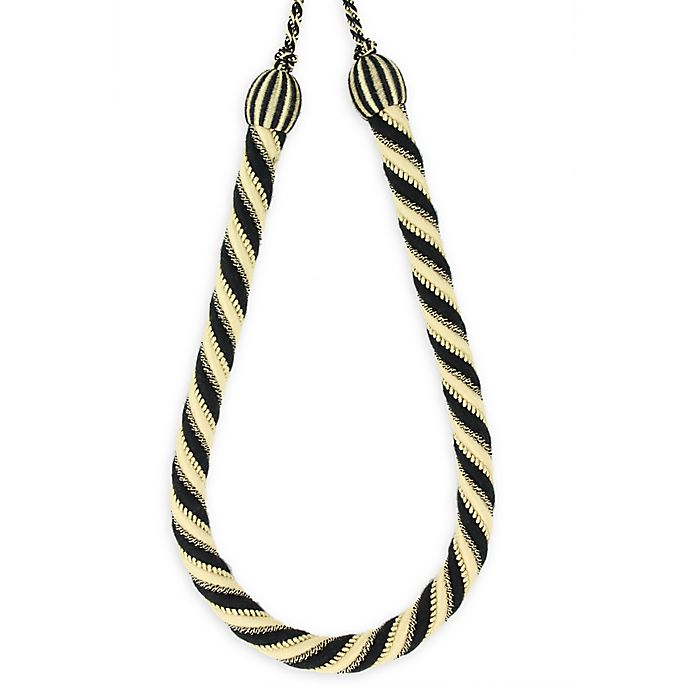 Alternate image 1 for Savannah Tassel Tie Back in Black/Beige