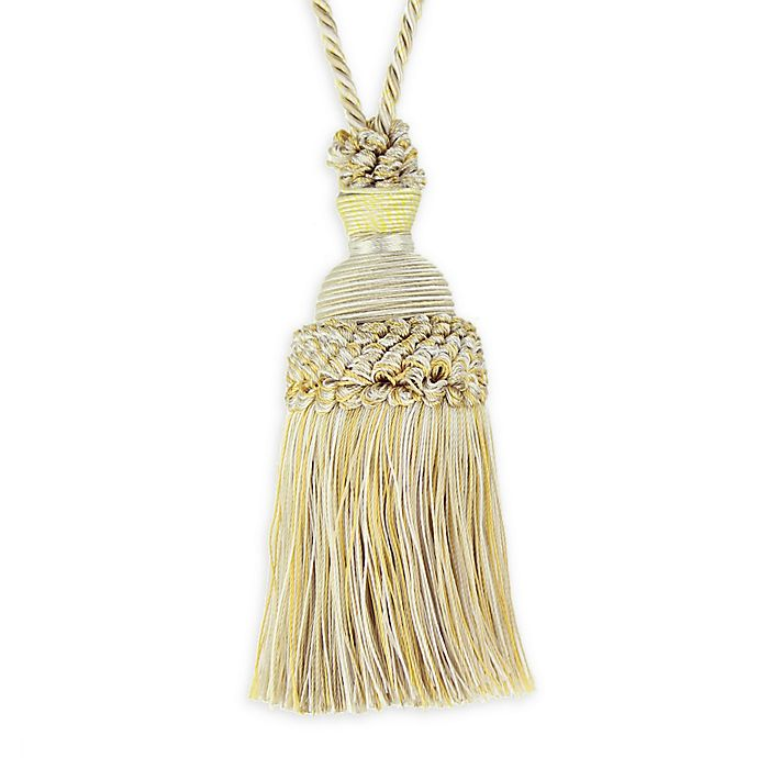 Alternate image 1 for Golden Age Key Tassel Tie Back in Cream/Gold