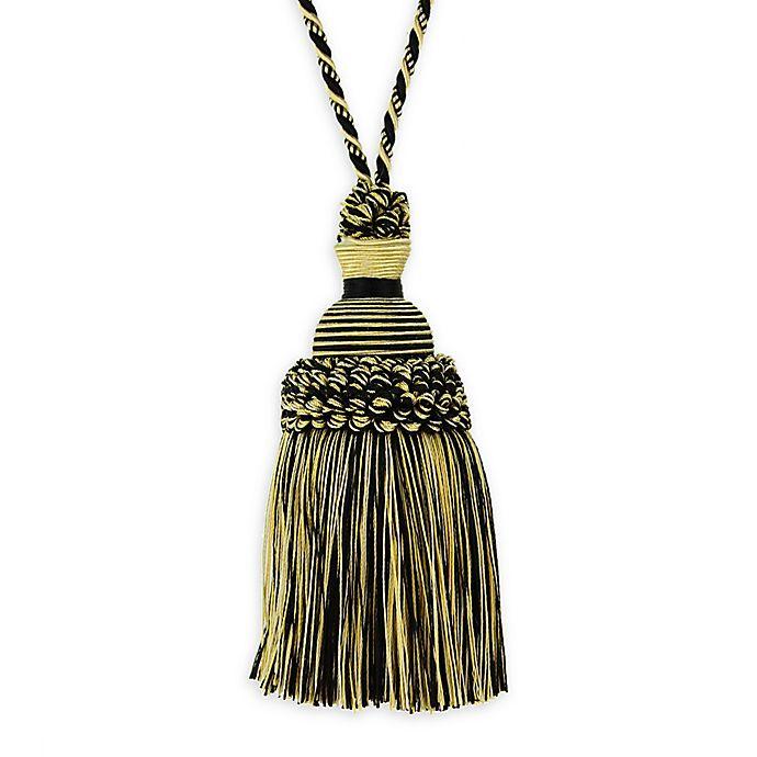 Alternate image 1 for Golden Age Key Tassel Tie Back in Black/Gold