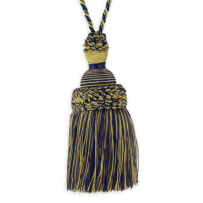 Alternate image 1 for Golden Age Key Tassel Tie Back in Navy/Gold