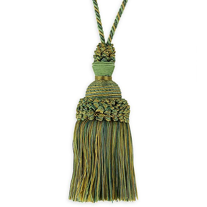 Alternate image 1 for Golden Age Key Tassel Tie Back in Green/Gold