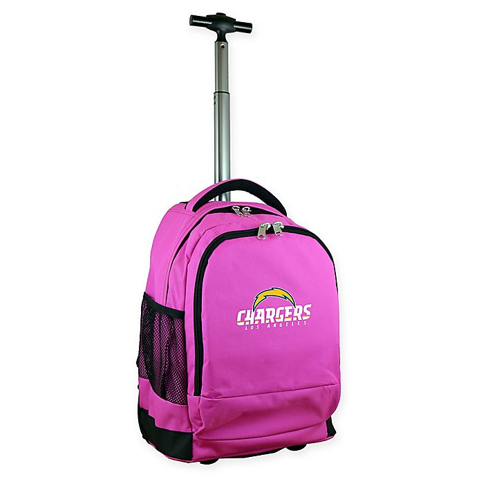 978d152e Mojo NFL Los Angeles Chargers 19-Inch Wheeled Backpack in Pink   Bed ...