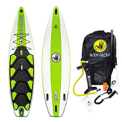 Body Glove® 10-Foot Raptor Inflatable Paddle Board Set in White/Green