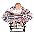 Balboa Baby® Shopping Cart and High Chair Cover in Pink/Grey Stripe