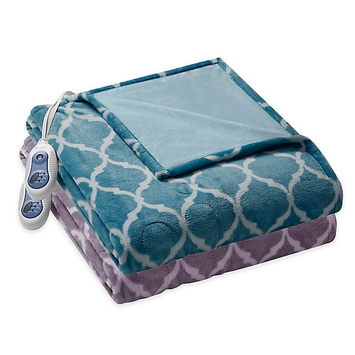Alternate image 1 for Beautyrest® Ogee Heated Oversized Throw Blanket