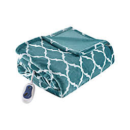 Beautyrest® Ogee Heated Oversized Throw Blanket in Teal