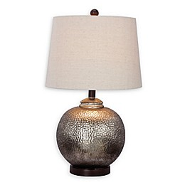 Fangio Lighting Martin Richard Round Hammered Table Lamp in Oil Rubbed Bronze