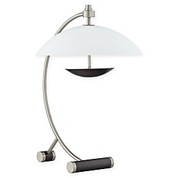 Pacific Coast® Lighting Half-Moon 1-Light Desk Lamp in Brushed Steel