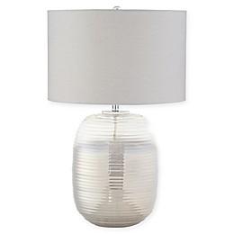 Kathy Ireland® Kie 1-Light Glass Table Lamp in Smoke