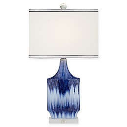Pacific Coast® Lighting Splash 1-Light Ceramic Table Lamp in Blue