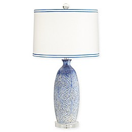 Pacific Coast® Lighting Ceramic 1-Light Table Lamp in Blue/Beige