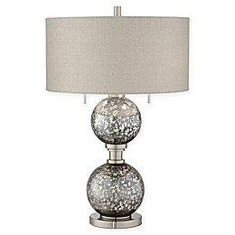 Pacific Coast® Lighting Metal and Glass 2-Light Table Lamp in Smoke