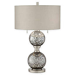 Pacific Coast® Lighting Metal and Glass 2-Light Table Lamp in Smoke
