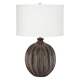 Pacific Coast® Lighting Ball 1-Light Ceramic Table Lamp in Antique Black