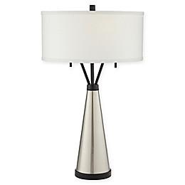 Kathy Ireland® Kie Spun Three Prong 2-Light Metal Table Lamp