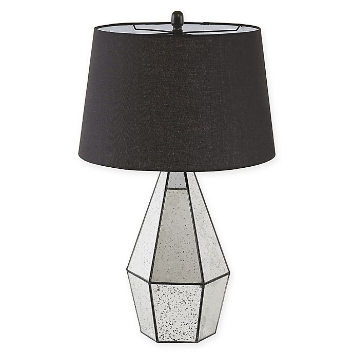 Alternate image 1 for Oxford Table Lamp with CFL Bulb and Fabric Shade in Mirror