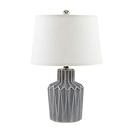 Urban Habitat Dollis Table Lamp in Grey with Fabric Shade