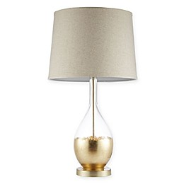 Madison Park Signature Kensal Table Lamp in Dipped Gold with Drum Shade
