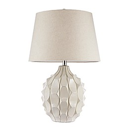 INK + IVY Romona II Table Lamp in White with Fabric Shade
