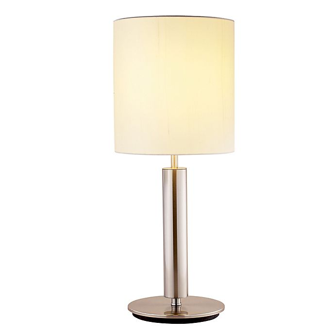 Alternate image 1 for Adesso® Hollywood Table Lamp in Brushed Steel