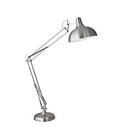 Adesso® Atlas Floor Lamp in Brushed Steel