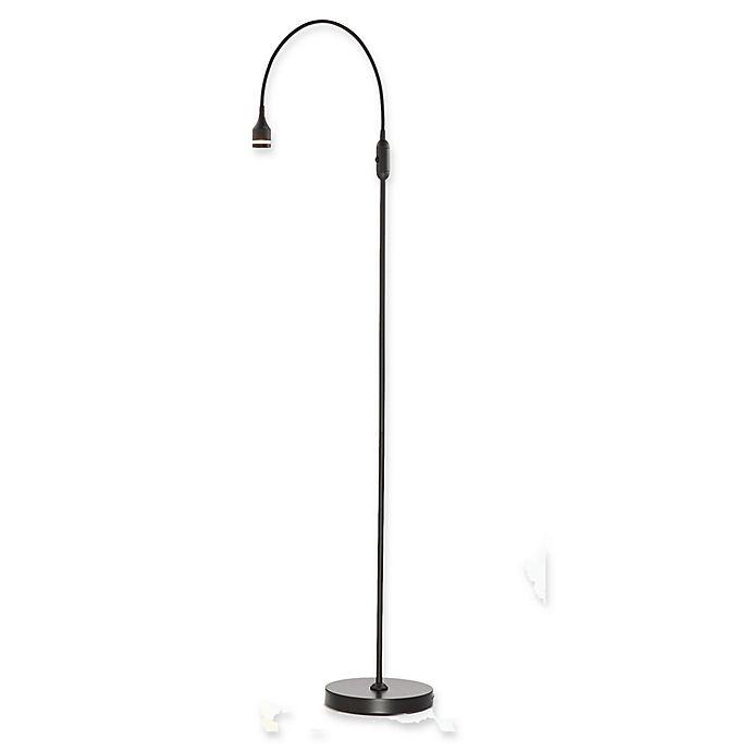 Alternate image 1 for Adesso® Prospect 1-Light LED Floor Lamp in Brushed Steel