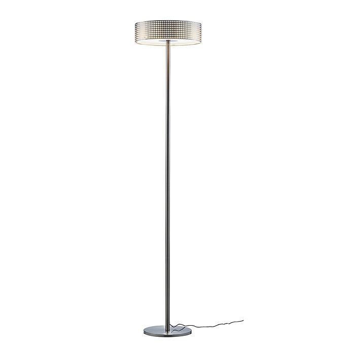 Alternate image 1 for Adesso® Wilshire LED Floor Lamp in Brushed Steel