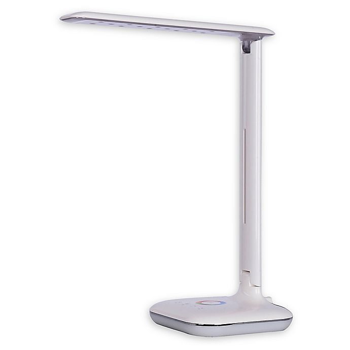 Tensor Led Desk Lamp In White With Color Changing Base