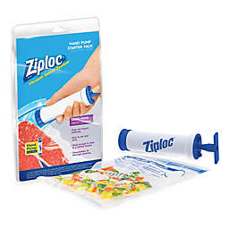 Ziploc® 6-Piece Hand Pump Vacuum Sealer Starter Set