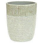Bacova Cordata Resin Wastebasket in Grey
