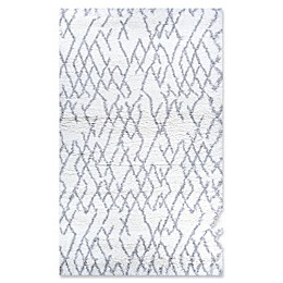 Couristan Fes Urban Shag Area Rug in White/Light Grey