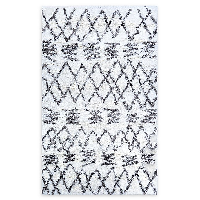 Alternate image 1 for Couristan® Kaza Loomed 2' x 3'11 Accent Rug in White/Mink