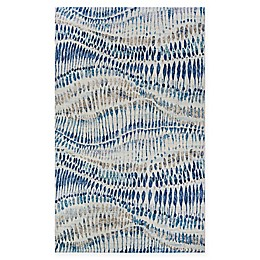 Couristan® Easton Charles Rug in Bone/Blue