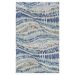 Couristan® Easton Charles 6'6 x 9'6 Area Rug in Bone/Blue