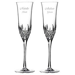 Waterford Lismore Essence Toasting Flutes Set Of 2