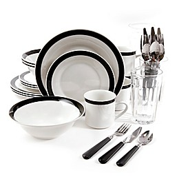 Gibson Home Essex 32-Piece Combo Dinnerware Set