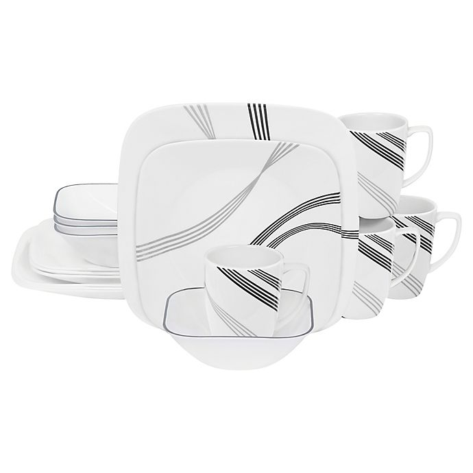 Alternate image 1 for Corelle® Square™ Urban Arc 16-Piece Dinnerware Set