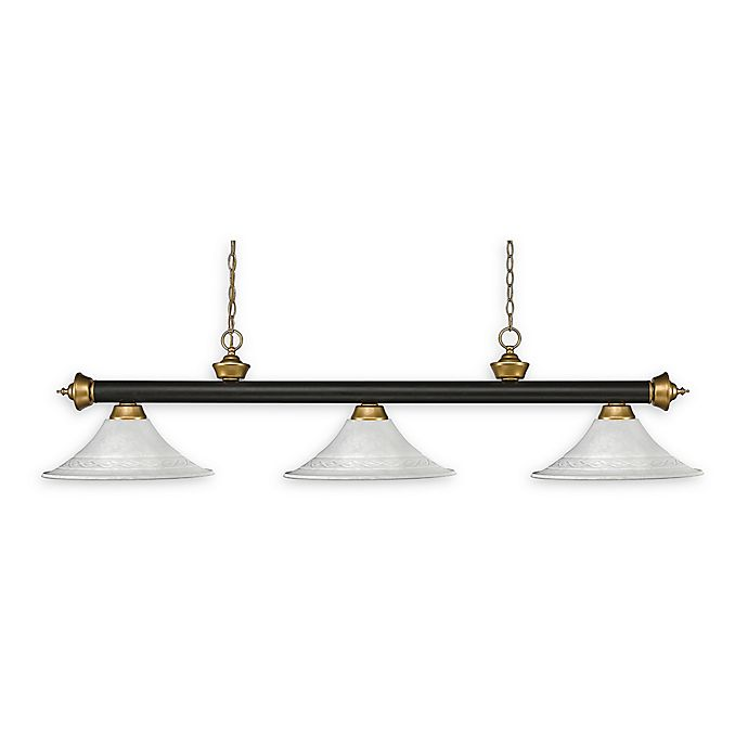 Alternate image 1 for Filament Design Reese 3-Light Pendant in Bronze/Gold with White Mottle Glass Shades