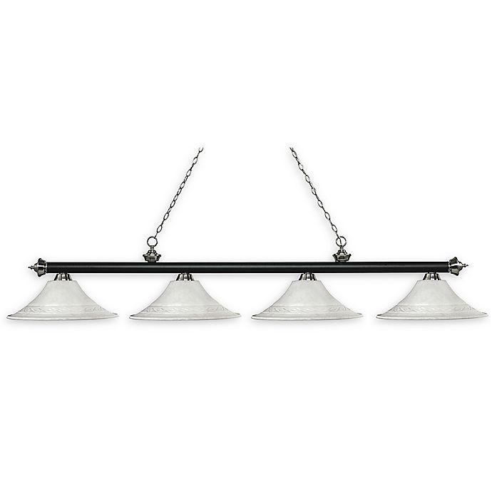 Alternate image 1 for Filament Design Reese 4-Light Traditional Pendant Light in White Mottle/Matte Black/Nickel
