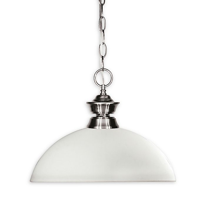 Alternate image 1 for Sandy 1-Light Pendant in Brushed Nickel with Opal Glass Shade