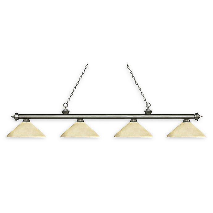 Alternate image 1 for Filament Design Reese 4-Light Pendant in Antique Silver w/Golden Mottle Glass Shades