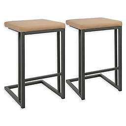 LumiSource Roman Counter Stools in Camel (Set of 2)