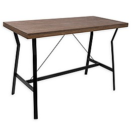 LumiSource Wishbone Counter Table in Walnut/Black